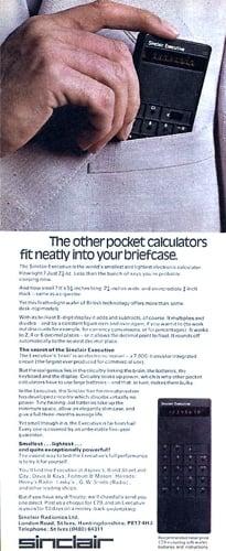 Sinclair Executive pocket calculator