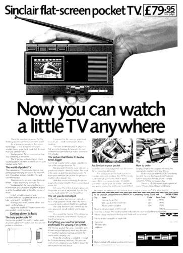 Sinclair FTV-1 'flat panel' pocket TV
