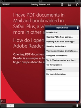 Adobe Reader for iOS screenshot