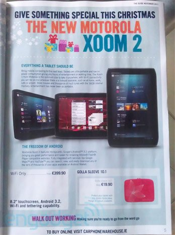 Xoom 2 Carphone Warehouse leak