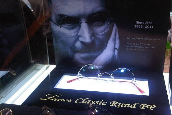 Lunor Classic Rund PP glasses at Hong Kong trade show, as worn by Steve Jobs