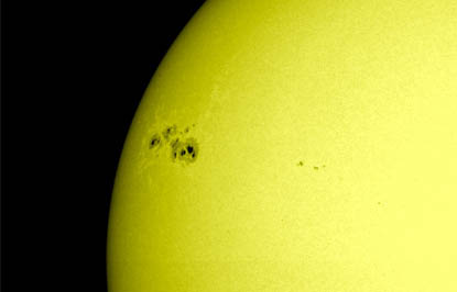 Ginormous sunspot spotted by NASA's Solar Dynamics Observatory (SDO) satellite