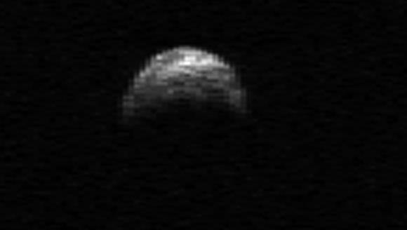 NEO YU55 imaged by the Arecibo radar telescope. Credit: NASA