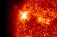 Solar flare from sunspot AR1339