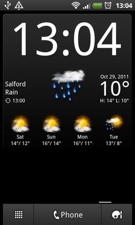 BeWeather Android app screenshot