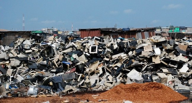 Electronic waste dumped in developing world