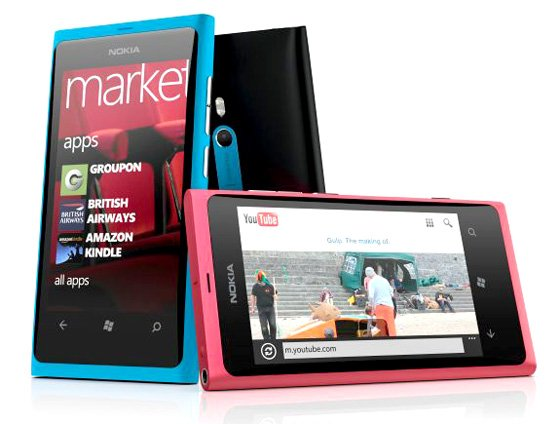 Nokia Lumia 800 Windows Phone 7.5 Mango handset