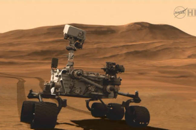 Mars Science Laboratory - Curiosity rover on Mars