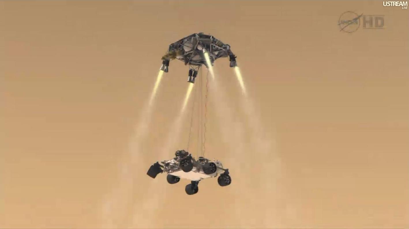 mars rover sky crane - photo #17