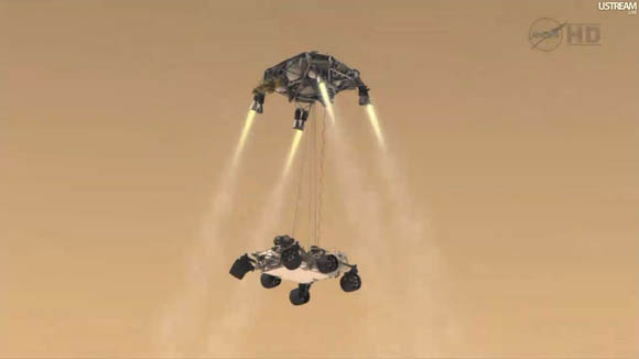 Mars Science Laboratory - Curiosity rover and skycrane
