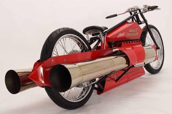 World S Only Twin Jet Engine Bike Drives Onto Ebay The Register