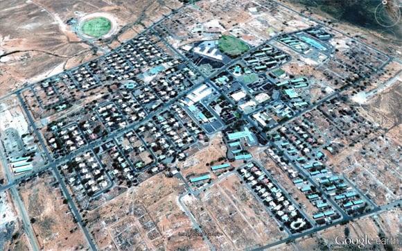 Aerial view of Woomera
