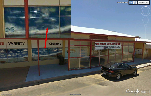 The Woomera Village Store on Street View