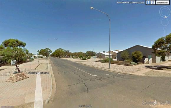 Woomera streets on Street View
