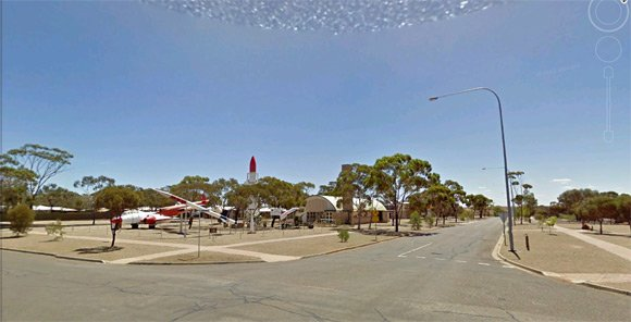The Woomera missile park, seen on Street View