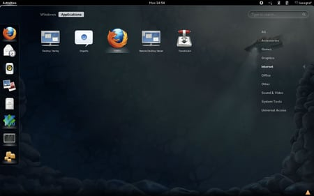 Fedora 16 GNOME 3 apps