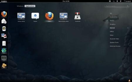 Fedora 16 GNOME 3 apps