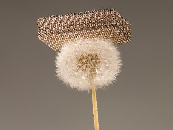 World's lightest material Credit: Dan Little for HRL Laboratories