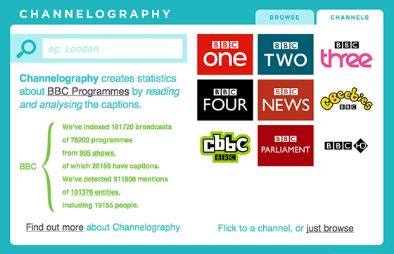 BBC R&D Labs' Channelography UI
