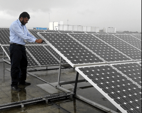 IBM Bangalore solar power array