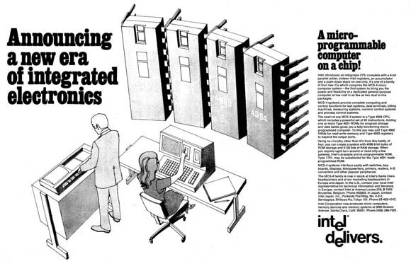 November 15, 1971 advertisement for Intel 4004