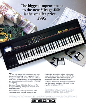 Ensoniq Mirage DSK keyboard sampler