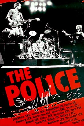 The Police European Tour 2007 poster
