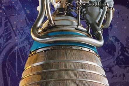 RL-10A rocket engine powering the Centaur stage of the Mars Science Laboratory mission