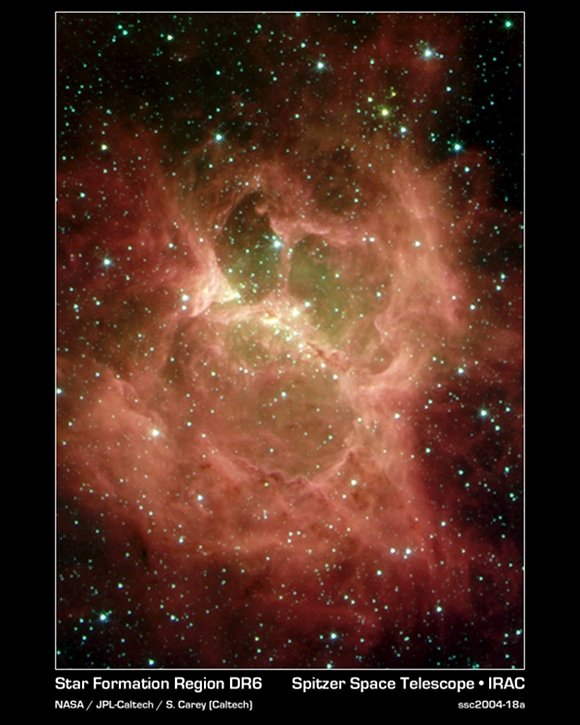 Galactic Ghoul seen by the Spitzer Space Telescope