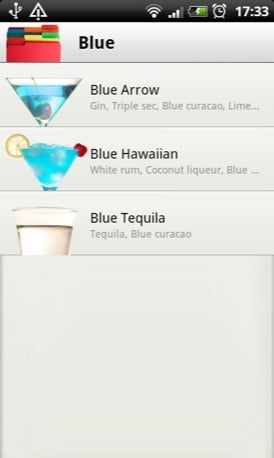 Cocktail Flow Android app screenshot