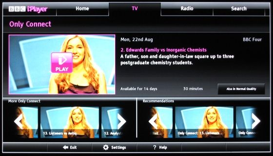 Smart TVs BBC iPlayer on the