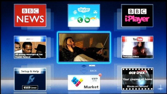 Smart TVs UI on the Panasonic