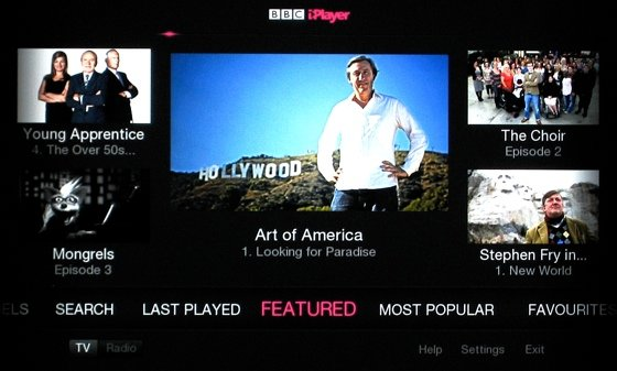 Smart TVs BBC iPlayer on the Panasonic