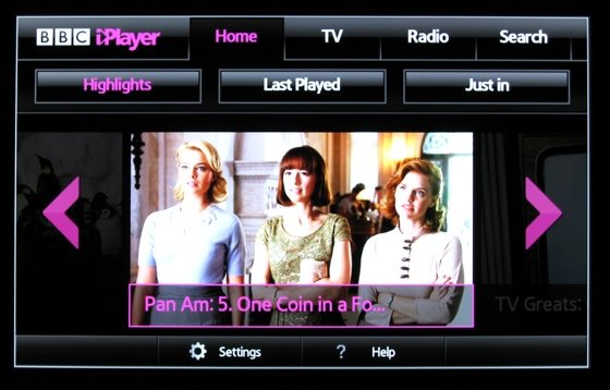 Smart TVs BBC iPlayer on the Samsung