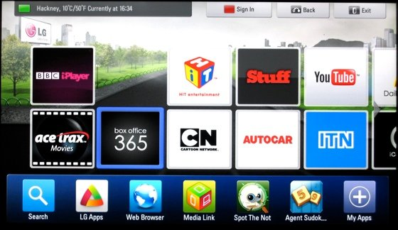 Smart TVs Video on Demand on the LG