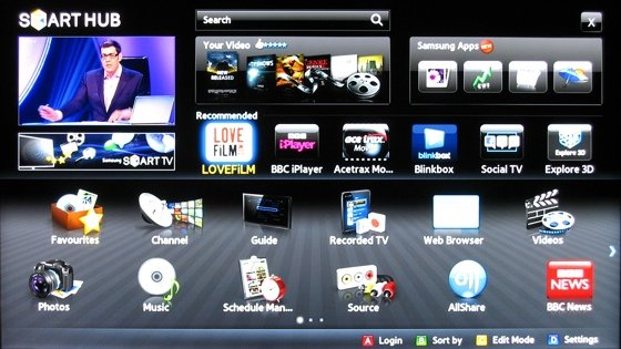 Smart TVs Video on Demand on the Samsung