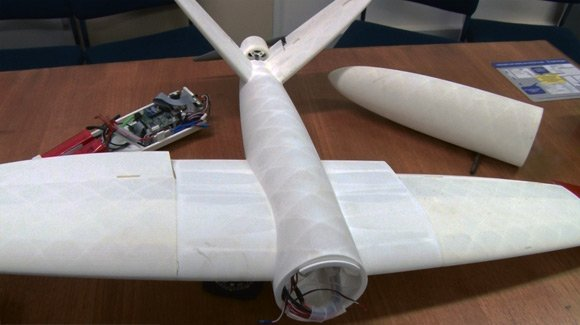 The Sulsa aircraft dismantled into its component parts