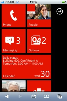 Windows Phone 7 on... iPhone