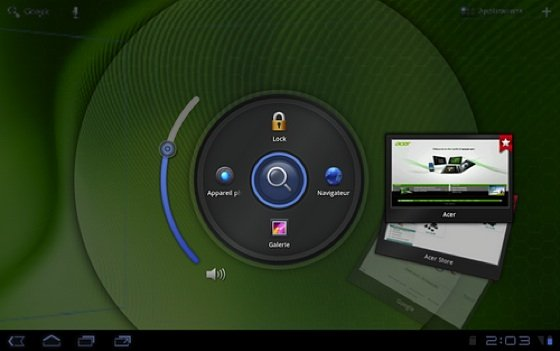 Acer Iconia Tab A200 Ring UI