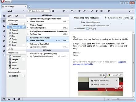 Opera Mail in 2011