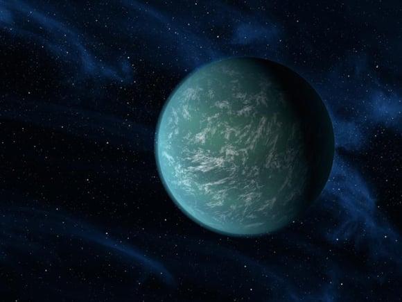 Artist's concept of Kepler 22b