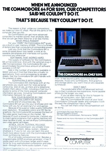 Commodore 64 US advert