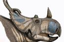 Artist's restoration of the head of Spinops sternbergorum