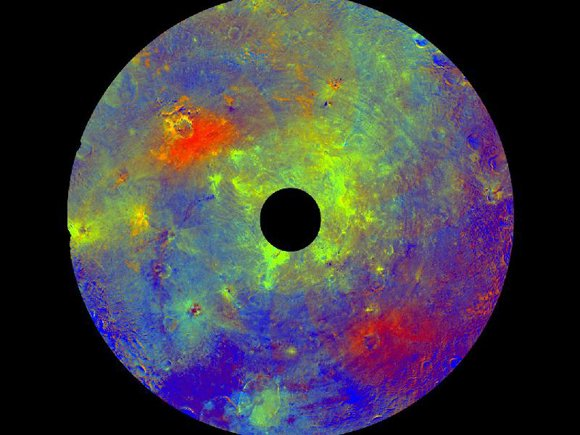 Different rocks and minerals on the surface of Vesta