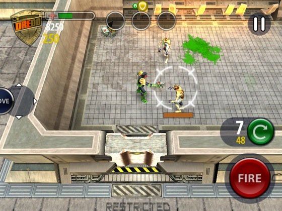 Judge Dredd vs Zombies iOS game screenshot
