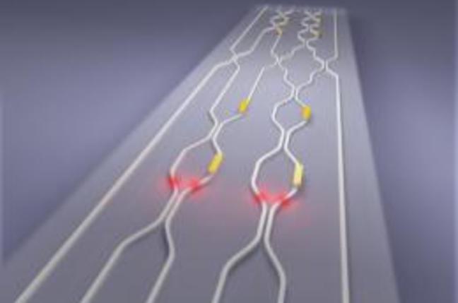 Artist impression of Bristol's quantum chip