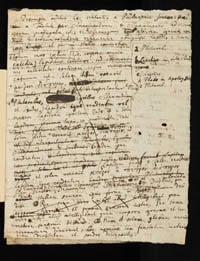 Philosophiæ naturalis principia mathematica handwritten notes