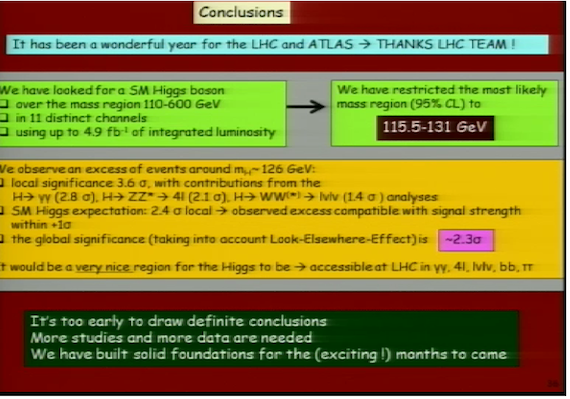 Slide from Gianotta's presentation on Higgs Boson, credit CERN