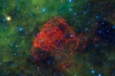 Puppis A supernova remnant captured by WISE