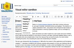 Wikipedia visual editor sandbox